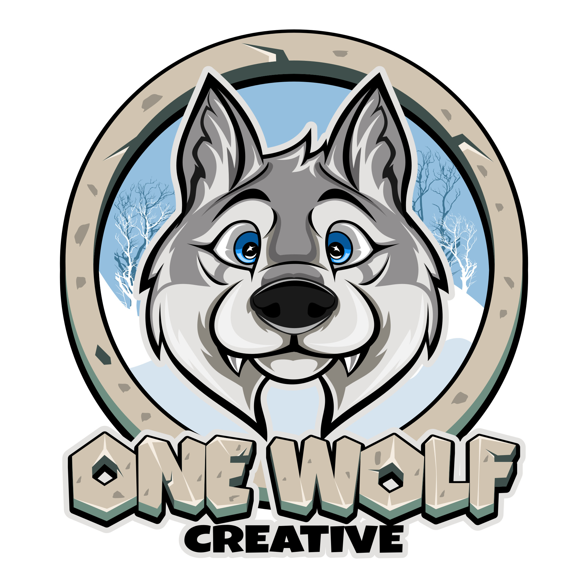 ONE WOLF CREATIVE logo